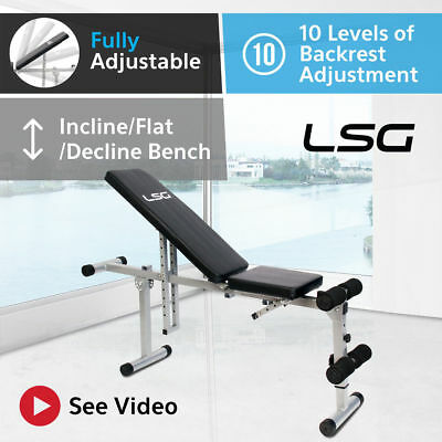 Adjustable Weight Bench Flat Incline Decline Exercise Fitness Lifespan Home Gym