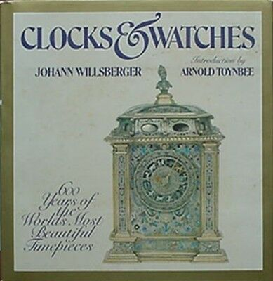 CLOCKS & WATCHES - 600 YEARS OF MOST BEAUTIFUL, BIG 1975 BOOK (c1600 AUGSBURG CV