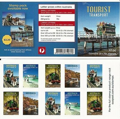 2015 Australia  - Tourist Transport  10 x 70c Booklet