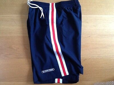 mens sports /swim shorts,large,navy ,Surridge,knee length