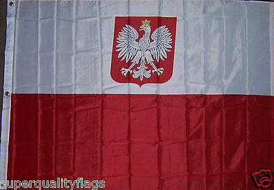 NEW HUGE 4x6 ft OLD POLAND WITH EAGLE FLAG