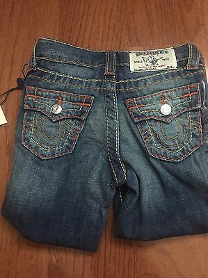 True Religion Jeans Toddler Big T With Flaps Straight Fit Size 4 MSRP $109 NEW!