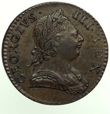 1774 Halfpenny George III aEF ~ British Colonial USA