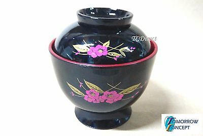 Japanese Style Plastic Miso Soup Noodle Ramen Udon Bowl with Cover 9.4cm