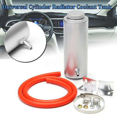 800ml Cylinder Radiator Overflow Reservoir Coolant Cooling Tank Can Aluminum