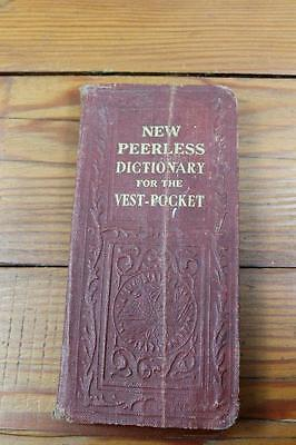Antique or Vintage Peerless Dictionary for the Vest Pocket - 1930's Leather