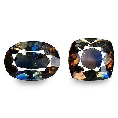 1.87ct DAZZLING NATURAL EARTH MINED ULTRA RARE BI COLOR BLUE AXINITE REFER VIDEO