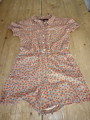 Stunning FRENCH CONNECTION KIDS Floral Print Summer Shorts PLAYSUIT, 10-11 Yrs