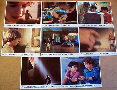 INDIAN IN THE CUPBOARD (1995) Original Set of Lobby Cards / FOH Stlls  Frank Oz