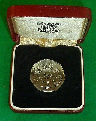 1973 EEC PROOF commemorative 50p In Box of issue FDC
