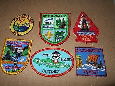 (Yk1-R) Six Different Listed Canadian Scout Badges