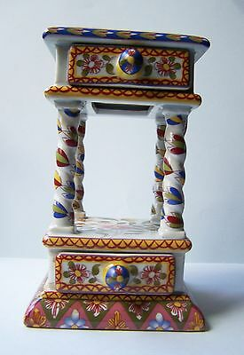 French faience table with drawers n QUIMPER Keller Guerin?