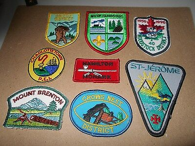 (Yk8-R) Eight Different Listed Canadian Scout Badges      Canadian Scout Badges