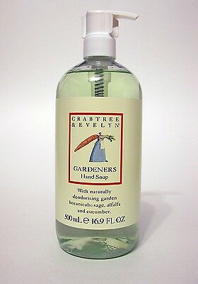 Crabtree & Evelyn Gardeners Liquid Hand Soap 500ml 16.9oz Summer Gift