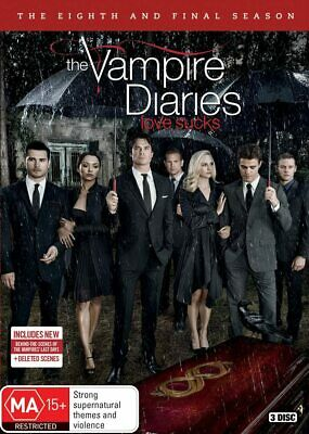 Vampire Diaries : Season 8 DVD, 2017, 3-Disc Set R4