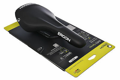 Ergon SME3-S Bike Saddle 135mm SMALL Road Mountain Cyclocross Steel Rails