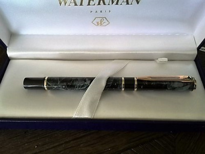 original WATERMAN LAUREAT MARBLE GRAY MARBLE  ROLLERBAL PEN   NEW IN BOX 1ST 1