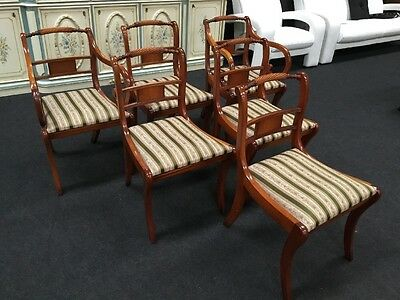 Set Of 6 Regency Design Dining Chairs In Manner Of Bevan And Funnell