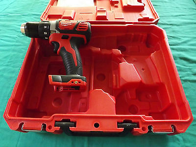 "New M18v Milwaukee Red Lith-Ion 1/2"" Drill & Case Model 2606-20"