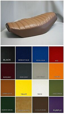 HONDA CH80 Elite Seat Cover   2-TONE SADDLE BROWN / CHOCOLATE BROWN (E)