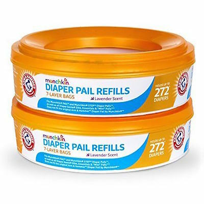 Munchkin Arm and Hammer Diaper Pail Refill Rings, 544 Count Lavender Scent