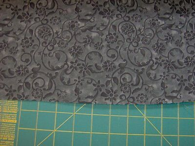 """108"""" backing fabric, 100% cotton priced by the half yard - black florals- BAC011"""