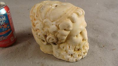 Ancient Roman Carved Marble Janiform Double Head Hermes Statue