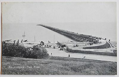 FELIXSTOWE, The Pier, Suffolk - 1907 - Vintage postcard
