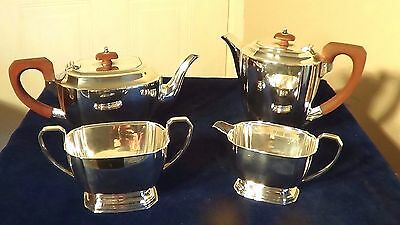 A SUPERB ART DECO,SILVER PLATE TEA SET BY-E&Co ENGLAND, CIRCA 1930.FREE UK P&P !