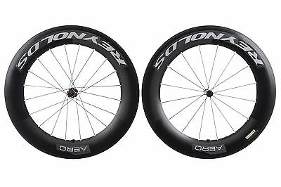 Reynolds 90 Aero Road Bike Wheel Set 700c Carbon Clincher Shimano 11 Speed