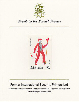 St Lucia 4250 - 1985 CHRISTMAS 10c imperf on Format International PROOF  CARD
