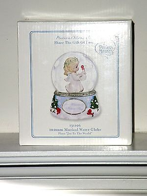 Precious Moments LET HEAVEN & NATURE SING 100mm Musical Water Globe ~ NIB