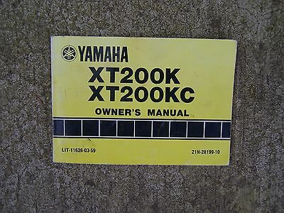 1982 Yamaha XT200K XT200KC Motorcycle Owner Manual MORE CYCLE ITEMS IN STORE  R