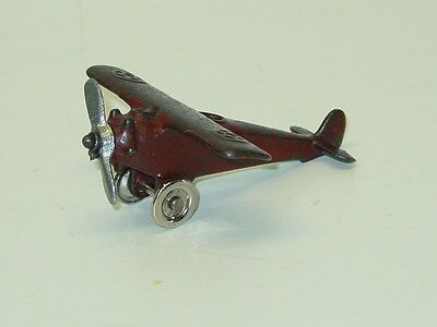 Vintage Cast Iron Arcade Single Prop Airplane, Smaller, Toy