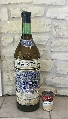 Vintage1940-50s Martell Cognac Bottle Store Display 23 Inch Tall Advertising