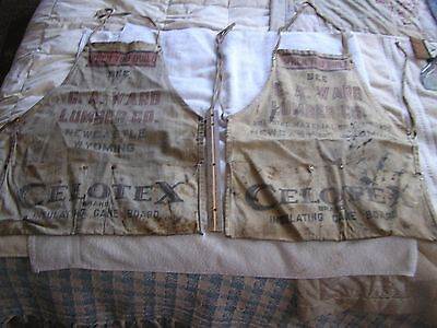 Vintage Wyoming Hardware Apron  Lot  2 C.A. Ward Lumber Co. New Castle