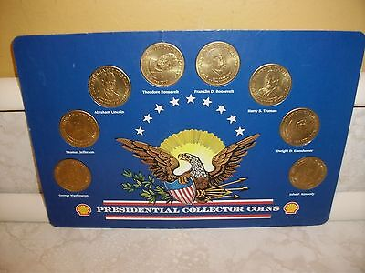 1992 Shell Oil Presidential President Collector Coins Complete Set Bronze Token