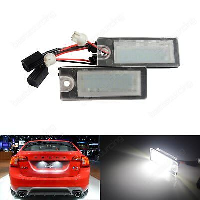 LED Rear Licence Number Plate Light Lamp For Volvo S60 V70 S80 XC70 XC90 Canbus