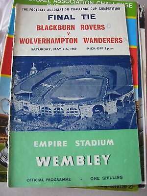 1960 FA Cup Final Blackburn Rovers v Wolverhampton Wanderers 7.5.1960 ORIGINAL