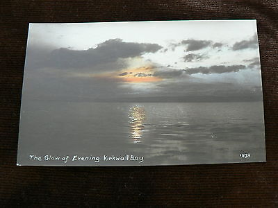Old Postcard: Glow of Evening, Kirkwall Bay, Orkney, Real Photo, Scotland