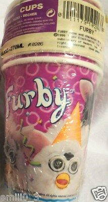 New Rare Furby Paper Cups Party Supplies