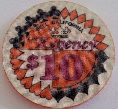 $10 Casino Chip The REGENCY Casino Bell, California / Suits of Cards ~ I COMBINE