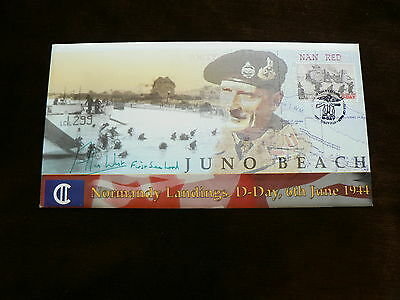 2004 Isle of Man Signed Cover, D-Day Normandy Landings, Juno Beach, WW2
