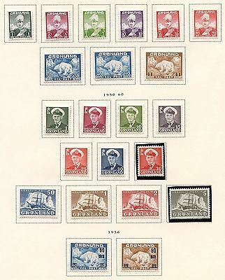 Greenland   1938//1960  Selection Of  Mint Hinged & Never Hinged Stamps As Shown