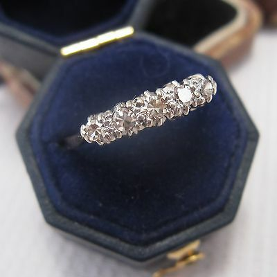Edwardian 5 Stone Diamond Ring in 18ct & Plat