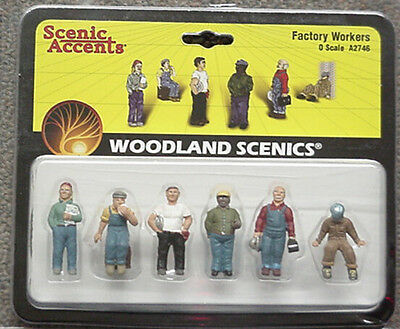 O scale Factory Workers Woodland Scenics People # 2746