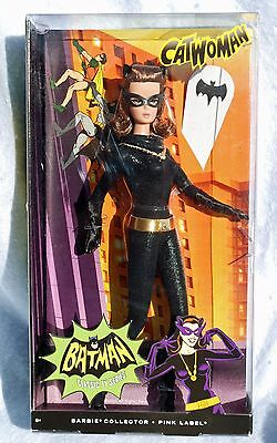 Catwoman 2013 Barbie Doll Julie Newmar Pink Label Collector Edition Batman Nib