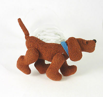 """Dollhouse World of Miniature Bears, Rusty the Dog, Jointed 2 1/4"""" tall"""