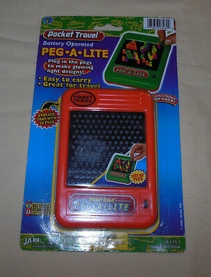 Rare 2003 Peg A Lite Brite Style Travel Pocket Size Game New With Packaging