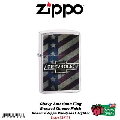 Zippo Chevy Chevrolet American Icons Lighter, Brushed Chrome #29148